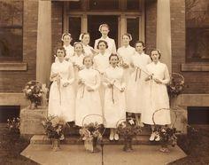 The 1937 graduating class of the Children's Hospital School of Nursing. #vintage #nurses #uniform #1930s