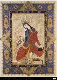 "Miniatura del libro ""Muraqqa-e Golshan"" 1605 y 1628 dC Persian paint"