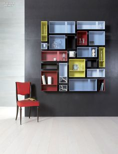 Year in Review: 70 Must-See Furnishings   Multibox shelving in lacquered wood by Capo d'Opera. #design #interiordesign #interiordesignmagazine