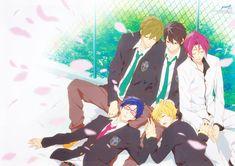 Free!, Matsuoka Rin, Ryuugazaki Rei, Hazuki Nagisa, Nanase Haruka (Free!)