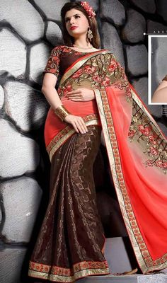 Other Women's Clothing Amicable Women Traditional Indian Art Georgette Red Bandhani Saree Ethnic Sari Blouse Clothing, Shoes & Accessories