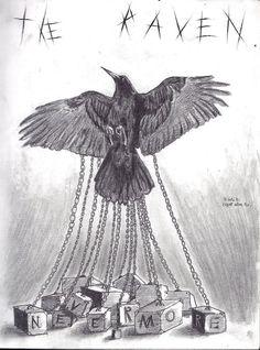 The Raven-tribute to Edgar Allan Poe by Sofery.deviantart.com on @DeviantArt