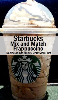 Starbucks Mix and Match Frappuccino Half Vanilla Bean, Half Double Chocolate Chip Frappuccino Add Caramel Syrup pump for tall, 2 pumps for grande, 3 pumps for venti) Line the cup with caramel Top with whipped cream and caramel and chocolate drizzle Frappuccino Recipe, Starbucks Frappuccino, Starbucks Secret Menu Drinks, Starbucks Coffee, Fun Drinks, Yummy Drinks, Coffee Health Benefits, Coffee Recipes, Drink Recipes