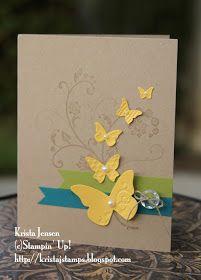 Krista's Stamper Room: Butterfly Swirls