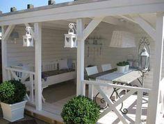 Garten Pavillon Landhaus weiß