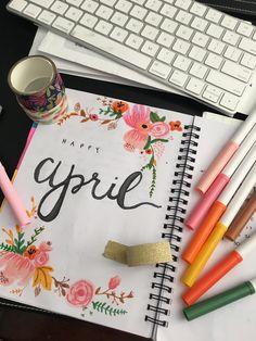 love this April cover #bujo #design #monthly #bulletjournaling