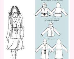 Jacke mit Kapuze (1025), 3 Varianten, Größe 34-46