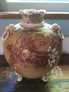 Rare Haviland Limoges Footed Vases In Gold With Elephant foot and Floral Motif. 3 • $68.00