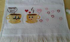 You're Hot, Cross Stitch Embroidery, Towel, Applique Patterns, Towels, Punto De Cruz, Needlepoint