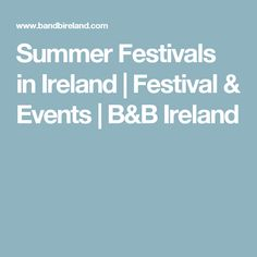 Festivals run throughout the year in Ireland, but in the summer months there's always an additional jam-packed calendar of events… Summer Festivals, Summer Months, Event Calendar, Ireland, Irish, Events, Holidays, Holidays Events, Irish Language