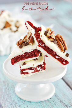 This Red Velvet Truffle Bark is like a cake ball, but SO much easier to make! And no less delicious!
