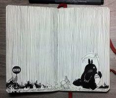 INKTOBER | DAY 2 Single Fine Lines by Picolo Find... | #DisneyArt