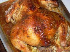 Фото приготовления рецепта: Курица в медово-чесночном соусе, запеченная в духовке - шаг №6