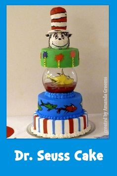 Cat in the hat baby shower cake cakes pinterest for Swedish fish shot