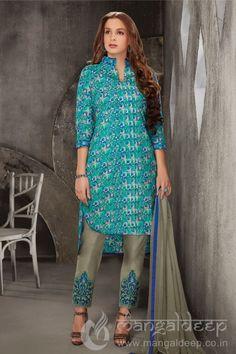http://www.mangaldeep.co.in/salwar-kameez/unstitch-salwar-kameez/graceful-teal-blue-pure-cotton-unstiched-casual-salwar-suit-7150 For more details contact us : +919377222211 (whatsapp available)