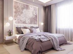 135 extraordinary bedroom design ideas for comfortable home decor 9 Modern Luxury Bedroom, Luxury Bedroom Design, Bedroom Bed Design, Home Room Design, Luxurious Bedrooms, Purple Bedroom Decor, Home Decor Bedroom, Bedroom Ideas, Aesthetic Bedroom