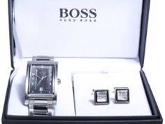 Hugo Boss Mens Watch And Cufflink Gift Set Was £275.00   Now £189.00 http://tidd.ly/5e02244e