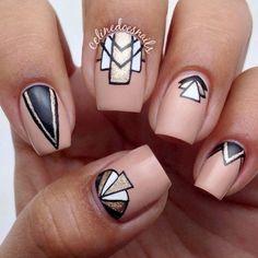 Nail art! Unhas decoradas art déco