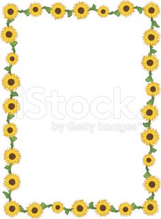 free sunflower page borders