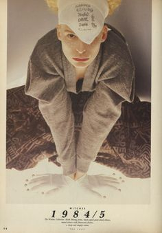 A young Vivienne Westwood for her World's End 1984 Witches Collection.(she's wearing Keith Haring pants) / The Face magazine, May 1987 Vivienne Westwood, Keith Haring Prints, The Face Magazine, Blitz Kids, Ad Art, I Love Fashion, Mens Fashion, End Of The World, Colour Images