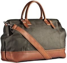 Kaufmann Mercantile | Green Canvas & Leather Weekender Bag for Men | Lyst