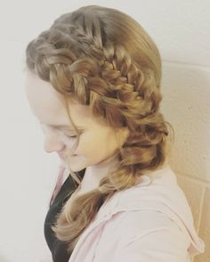 """55 Likes, 6 Comments - Willow and Heather (@thebraidedsisters) on Instagram: """"I have 4 different braids today! A normal 3 strand, a Dutch, a fishtail, and a pull - through braid…"""""""