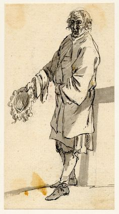 1746 A Beggar holding Out His Wig