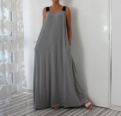 "Lovely Grey Maxi dress for Summer ! With elastic band straps and A line shape, this dress is extraordinary , yet comfy and easy to war ! Cut from lovely viscose , with elastic band straps , this dress is an extraordinary choice if you want to be different :) Fabrication : Elastic VISCOSE Tricot LENGTH : 145 CM / 57 INCHES Sizes : XS / UK 2-4 / US 00-0 BUST 76-80 cm (30''- 31.5"") WAIST 58-62 cm (23""- 24.5"") HIPS 81-86 cm (32""- 33.5"") S / UK 6-8 / US 2-4 BUST 81-..."