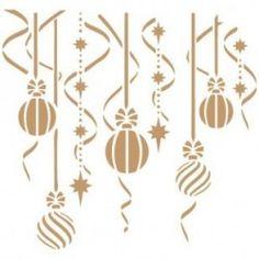 Stencil Deco Fiesta 042 Bolas Navidad
