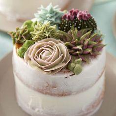 Amazing succulent design cake !