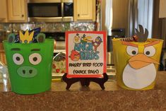 Brandon's 7th Angry Birdsday | CatchMyParty.com Bird Birthday Parties, Boy Birthday, Birthday Ideas, Festa Angry Birds, Bird Theme, Star Wars Party, Diy Party Decorations, Cute Crafts, Party Time