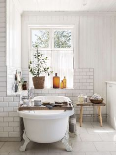 Cheap Home Decor Bathroom with subway tile and clawfoot tub Beautiful bathroom design Home Decor Bathroom with subway tile and clawfoot tub Beautiful bathroom design Bathroom Spa, White Bathroom, Modern Bathroom, Bathroom Fixtures, Small Bathroom, Bathroom Ideas, Minimalist Bathroom, Remodled Bathrooms, Colorful Bathroom