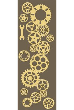 Clock is cut from mm a white chipboard. 10 cm x 28 cm inch x inch You can decorate it by paint, stamp, inks, embossing powder and more. Perfect for mixed media project. Embossing Powder, Cogs, Chipboard, Laser Cutting, Embellishments, Mixed Media, Stamp, Shapes, Projects