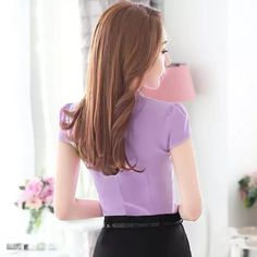 office lady Picture - More Detailed Picture about Elegant V Neck Formal women blouse summer OL fashion slim short sleeve chiffon shirt office ladies plus size tops Lavender White Picture in Blouses & Shirts from NAVIU Elegant and Fashion Official Store Ol Fashion, Office Fashion Women, Womens Fashion, Female Pictures, Fashion Pictures, Chiffon Shirt, Ruffle Blouse, White Picture, Office Ladies