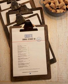 Hanging Menu, Its a nice classy design. I really like how they ...