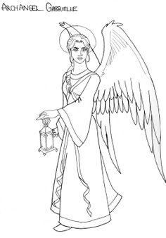Archangel Gabriel Line Art by Djehuti