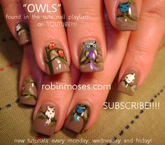 Owl Nails...these are so cute!