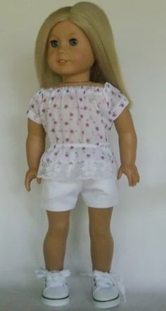 Hey, I found this really awesome Etsy listing at https://www.etsy.com/listing/274258812/ag-doll-clothes-white-stretch-denim
