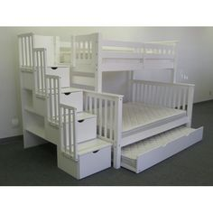 Bedz King Twin Over Full Bunk Bed with Twin Trundle & Reviews   Wayfair
