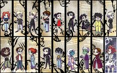 TMI bookmarks ... alexander 'alec' lightwood, magnus bane, the mortal instruments, jace herondale, clarissa 'clary' fray, simon lewis, isabelle lightwood, jonathan morgenstern, ragnor fell, maia roberts, catarina loss, jocelyn fray, max lightwood