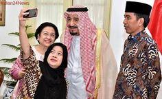 Saudi King Salman embraces 'selfie' on tour across Asia