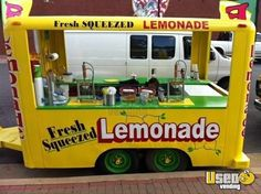 Kitchen Food Trailers for Sale - Buy Mobile Cooking Trailers Food Trailer For Sale, Food Truck For Sale, Trailers For Sale, Lemonade Stand For Sale, Lemon Shake Up, Food Service Jobs, Ice Shop, Food Cart Design, Fresh Squeezed Lemonade