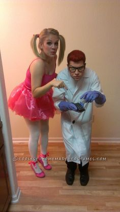 Cute and Easy Dexter and Dee Dee Couple Cartoon Costume ...This website is the Pinterest of costumes