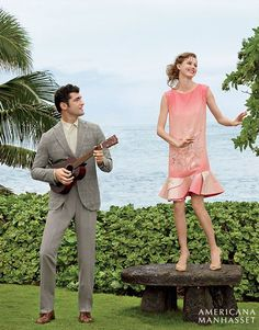 Lindsey Wixson and Sean O'Pry model Ralph Lauren for Americana Manhasset's spring 2016 campaign Celebrating 60 years, Long Island, New York-based Lindsey Wixson, Sean O'pry, Luxury Shop, Tropical Paradise, Giorgio Armani, Emporio Armani, Spring Summer 2016, Fashion Beauty, Photoshoot