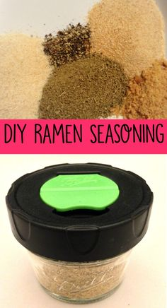 DIY Ramen Seasoning Recipe Did you know that you can make homemade ramen seasoning with spices you probably already have on hand? This homemade ramen seasoning recipe is easy to make and is so yummy! Homemade Dry Mixes, Homemade Spice Blends, Homemade Ramen, Homemade Spices, Homemade Seasonings, Spice Mixes, Homemade Things, Ramen Recipes, Cooking Recipes