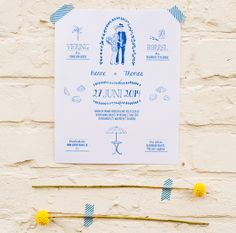 Beach wedding poster | Mino Paper Sweets