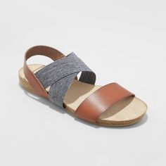 Women's Kerryn Elastic Strap Footbed Slide Sandals - Universal Thread™ : Target