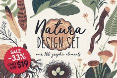 NATURA GRAPHIC ELEMENTS PACK is the forest-related hand-drawn illustrations and elements with high resolution dpi). All elements are separated on a Business Illustration, Pencil Illustration, Watercolor Illustration, Graphic Illustration, Web Design, Make Design, Print Design, Graphic Design, Retro Design