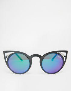 212ede32d19 Image 2 of Quay Australia Invader Cat Eye Mirror Sunglasses Lunettes De  Soleil Réfléchissantes