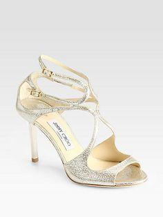 Jimmy Choo - Ivette Crinkled Leather Sandals - Saks.com